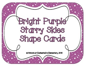 Bright Purple Starry Skies Shape Cards