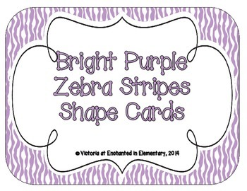 Bright Purple Zebra Print Shape Cards