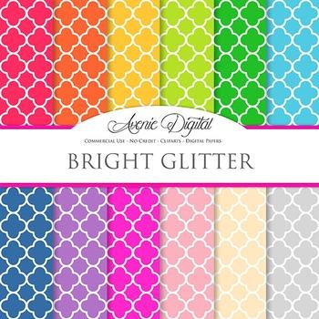 Bright Quatrefoil Digital Paper patterns bright block color scrapbook background