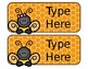 Bee Nameplates (Editable)