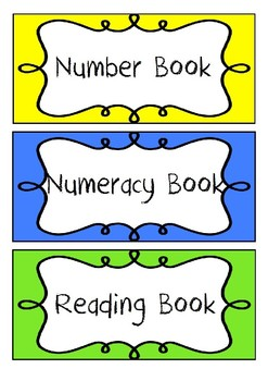 Bright Rainbow Book Labels