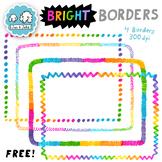 Bright Rainbow Border Clipart | Rainbow Border | FREE Rainbow Page Borders