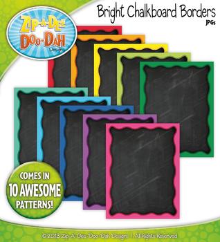 Bright Rainbow Chalkboard Borders {Zip-A-Dee-Doo-Dah Designs}