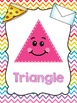Rainbow Chevron Shape Posters
