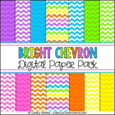 Bright Rainbow Chevron Digital Paper Pack