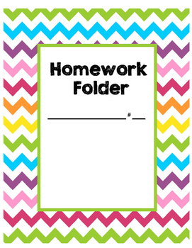 graphic about Printable Folder named Brilliant Rainbow Chevron Research Folder Printable