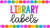 Bright Rainbow Classrom Library Labels **FITS TARGET LABELS!!**