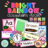 Bright Rainbow Classroom Decor Bundle