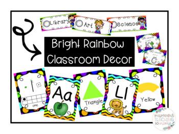 Bright Rainbow Classroom Decor *Growing* Bundle