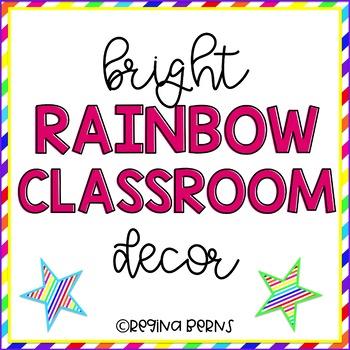 Bright Rainbow Classroom Decor {Mega Pack}