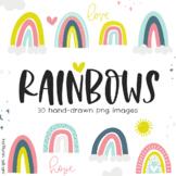 Bright Rainbow Clip Art Images