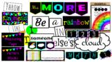 Bright Rainbow Colored Classroom Theme Set