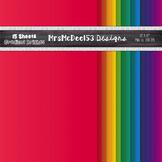 Bright Rainbow Digital Paper {15}