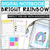 Bright Rainbow Digital Teacher Notebook