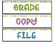 Bright Rainbow Drawer Labels