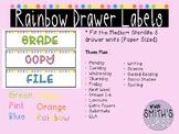 Bright Rainbow Drawer Labels