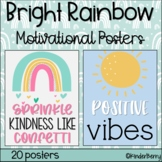 Bright Rainbow Inspirational Quotes Motivational Posters