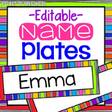 Bright, Rainbow Name Plates