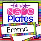 Bright, Rainbow Name Plates