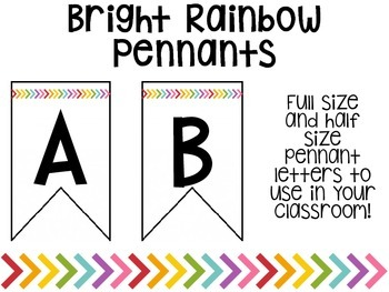 Bright Rainbow Pennant Letters