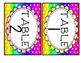 Bright Rainbow Polka Dot Theme Table Numbers
