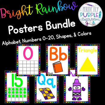 Bright Rainbow Poster Bundle