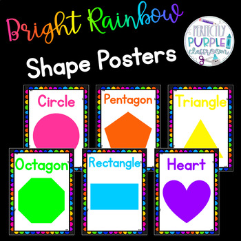 Bright Rainbow Shape Posters