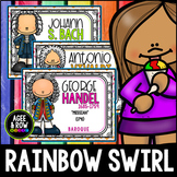 Bright Rainbow Swirl Composer Posters!  39 Full-Color Page