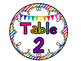 Bright Rainbow Table Signs!