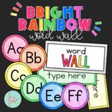 Bright Rainbow Word Wall (Editable)