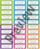 "Bright Rainbow Editable Avery Labels- #5160 (1"" x 2 5/8"")"