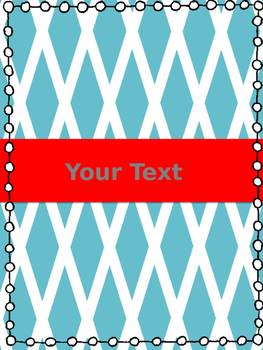 Bright Red, White and Blue Binder Cover/Divider Set