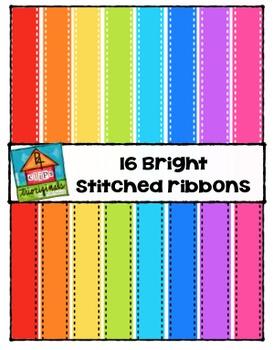 Bright Ribbons {P4 Clips Trioriginals Digital Clip Art}