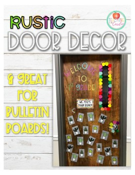 Bright Rustic Door Decor