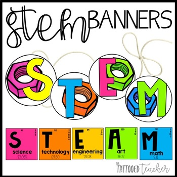 Bright STEM / STEAM banner