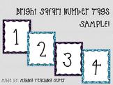 Bright Safari Number Tags