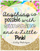 Lilly Pulitzer Posters: Bright & Sassy Inspirational Quotes!