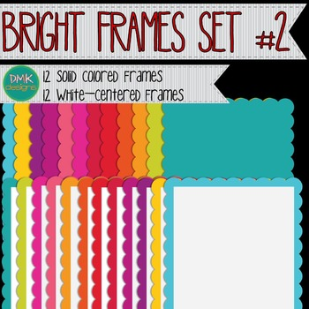 Digital Frames- Scalloped Frames #2
