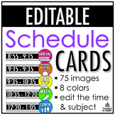Bright Schedule Cards | EDITABLE
