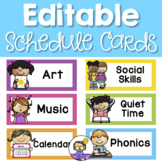 Editable Schedule Cards - Visual Daily Timetable