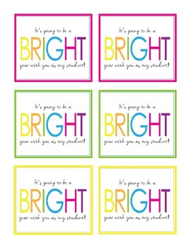 Bright School Year!  Gift Tags