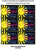 Bright School Year Tags - Open House / Back To School Tags