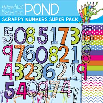Scrappy Numbers SUPER Pack!