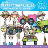 Bright Scrappy Safari Kids Clipart Set