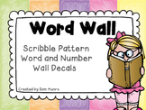 Bright Scribble - Word and Number Wall