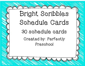 Bright Scribbles Schedule Cards