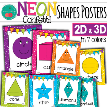 Bright Shape Posters 2D and 3D  Shapes
