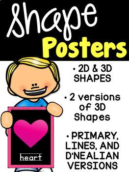 Bright Shape Posters - Black Version