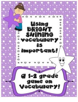 Vocabulary game grades 1-2