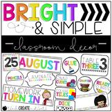Bright & Simple Classroom Decor   Editable